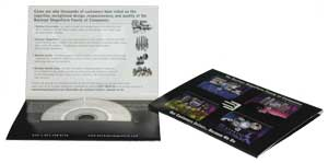business card cd mailer