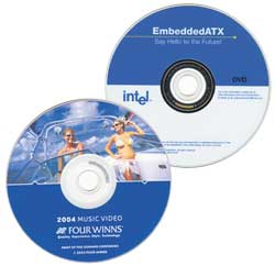 DVD-R media printing sample with gloss paper label